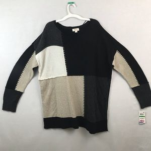 Style & Co long sleeve ruffled end sweater
